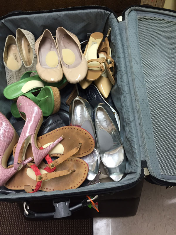 Suit Case of Heels - Arch Supports
