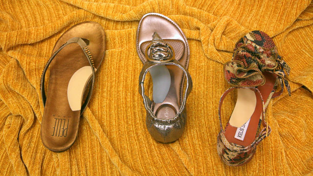Arch Supports Sandals - Tan and Gray